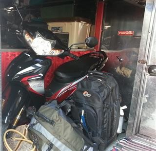 Luggage Inside Bus