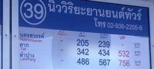 Getting to Lampang from Bangkok by Bus