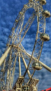 Melbourne Star Observation Wheel See 40KM from 120 Meters