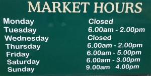Trading Hours of the Queen Victoria Market