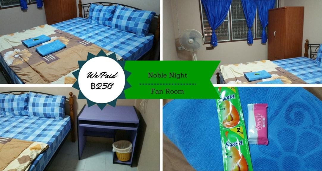 Fan Room Noble Night Guesthouse Kanchanaburi Thailand Fan Room