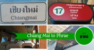From Chiang Mai to Phrae by Bus