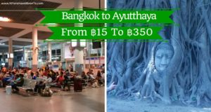 Bangkok to Ayutthaya how to get there