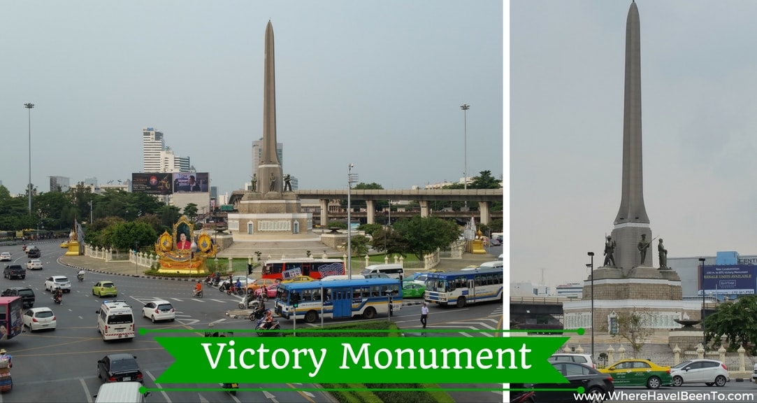 Victory Monumant Bangkok Thailand Minivan Transport HUB