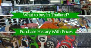 What to buy in Thailand? Purchase History with Prices